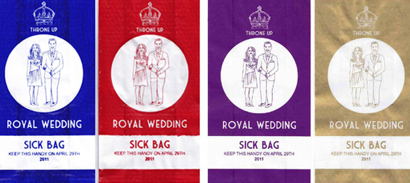 Royal wedding barf bags