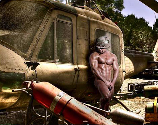 nude army dude