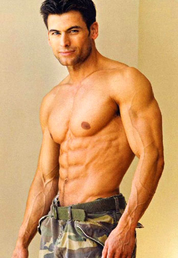 hot guy in cammies