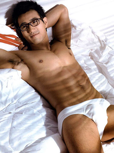 asian male underwear model