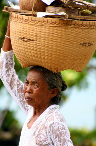 old woman in bali