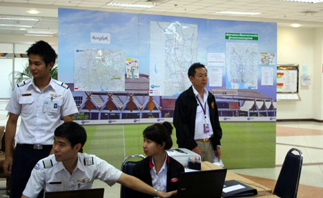 Chiang mai airports' flood center for travellers