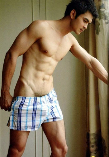 hot guy in boxer shorts