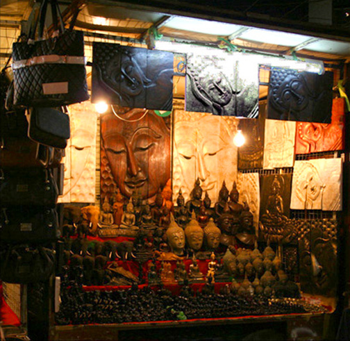 Chiang Mai's Night Bazaar.
