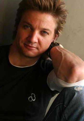 The hunky, and no longer gay, Jeremy Renner.