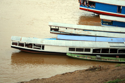 boats along the Mekong