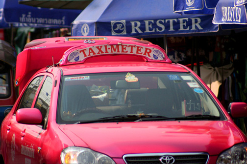 Bangkok's taxis are one of the most colorful things about the city.