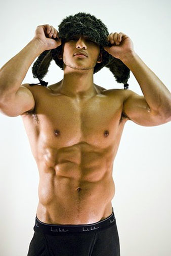 nude asian abs