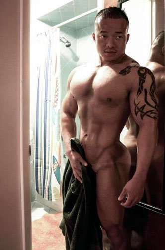 Korean nude male muscles