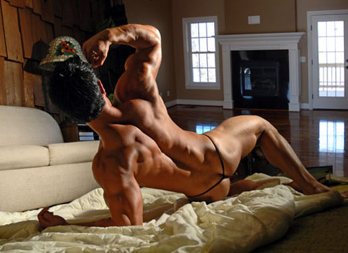 naked asian muscle