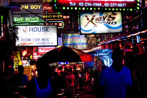 Soi Twilight is Bangkok's main drag for gay gogo bars.