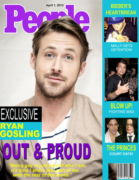 Ryan Gosling comes out in this week's issue of People Magazine.