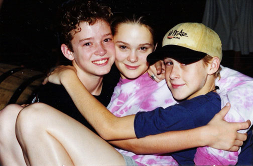 The satisfied smile on Gosling's face says it all in this picture from the days of his and Justin Timberlake's childhood bromance.