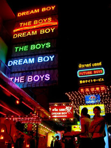 Why is Patpong a favorite place to stay among gay travellers? Why do gay men breathe?