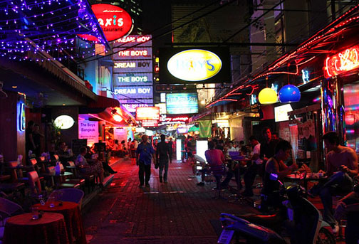 Patpong is home to Bangkok's gay gogo bars, which is why so many gay visitors also make it their home away from home.