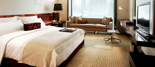 The rooms at the Le Meridien actually provide room, and in a contemporary yet refined manner.