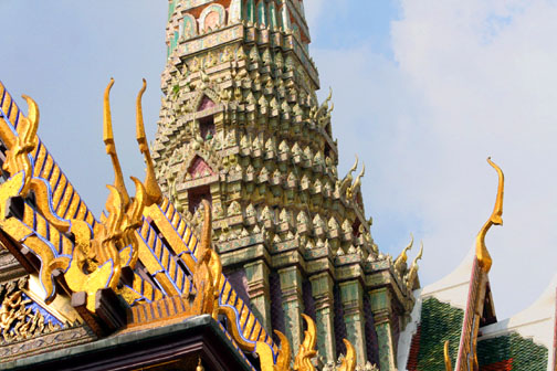 The roof finials on Thai temples are more that just decorative ornamentation.