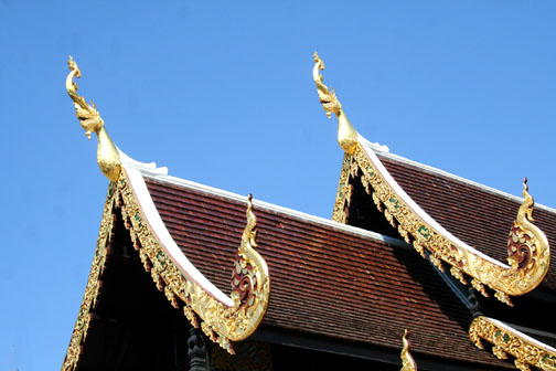 The less ordinary naga chofah is found at Wat Sadoe Muang in Chiang Mai.