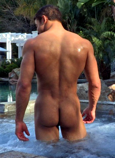 naked asian male ass