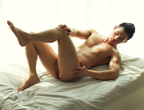 naked asian guy