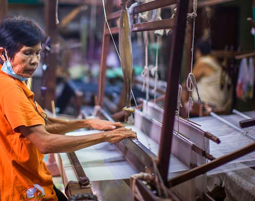 Ban Krua is home to some of Bangkok's last traditional silk weavers.