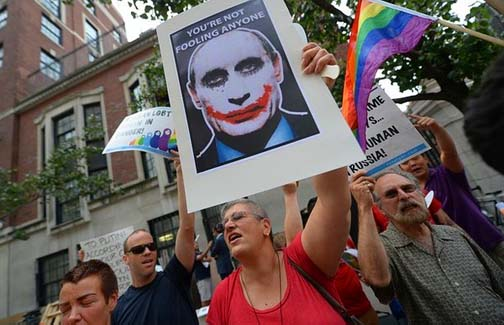Putin says nyet to gays and the world reacts. Ineffectively.
