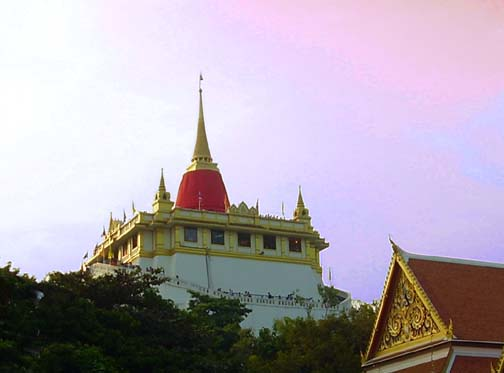 Each year when Wat Saket's stupa is wrapped in red you know it's time for the temple fair.