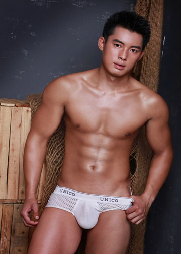 nude asian dude
