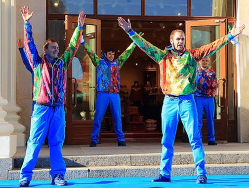 Those Russian Olympic uniforms are not gay. They're fabulous!
