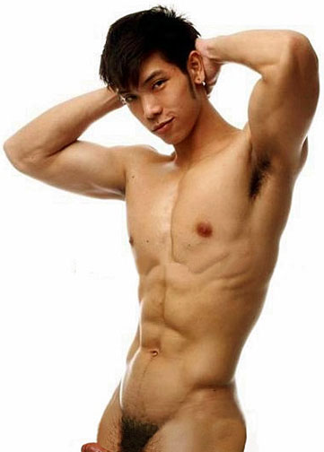 naked asian abs