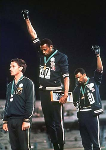 The salute of solidarity in support of human rights at the Mexico City Games is one of the Olympics most iconic and memorable images.