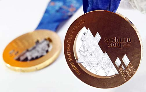 The Sochi Olympic Medals are designed to represent the best of Russia. So no rainbows.