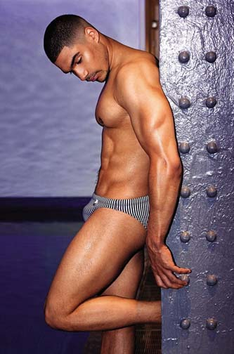 Louis Smith covers GT with not much covering his hot body.
