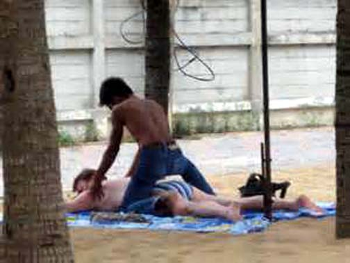 Getting a genuine Thai massage at the beach is one of life's little pleasures.
