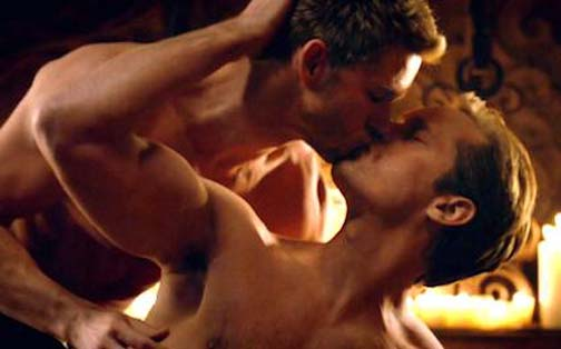 Season 7 of True Blood has barely begin and is already getting its gay on. Fang you very much!