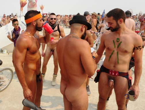 Public nudity is an accepted  part of Burning Man.