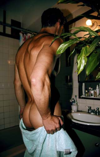 naked male ass