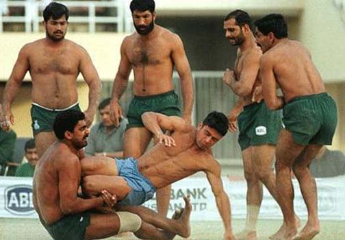 In India when half-naked men get together to play with each other, they call it kabaddi.