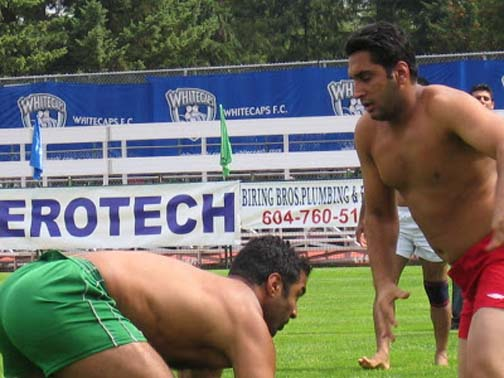 Keeping your eyes on the prize is an important skill set in the game of kabaddi. And BTW, that's not how you spell erotic, but we get the idea.