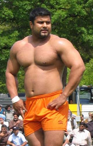 Kabaddi beef. And maybe a kabaddi boner too  -  it's hard to tell with beefy guys sometimes.
