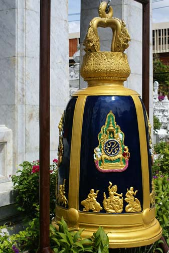 Because Thais love nothing more than beating a joke to death, King Bhumibol gave Wat Rakang some bells too.