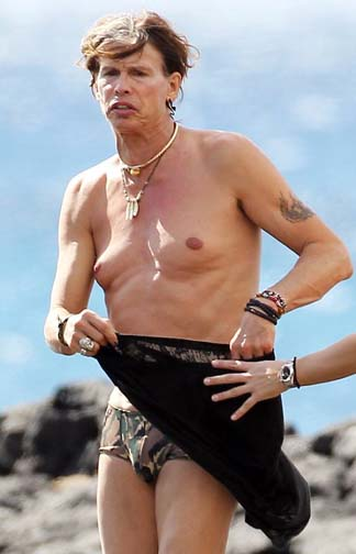 Forget the Kardashians, Phuket wants to feast on the naked flesh of Steven Tyler's man boobs instead.
