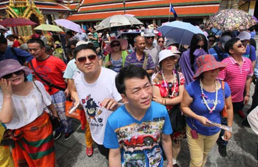 The influx of mainland Chinese tourists to Thailand often looks more like an invasion.