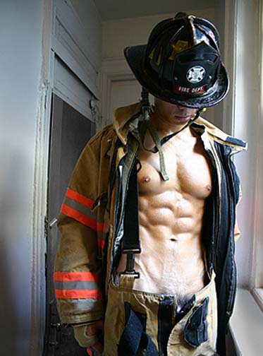 One of the side benefits of fire is hot firemen.