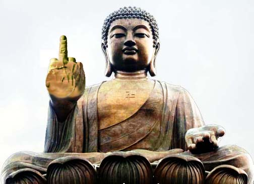 Thanks to its sexpat population, Buddhas in Pattaya display a  mudra seldom seen outside of the area.